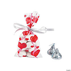 Mini Valentine Cellophane Bags