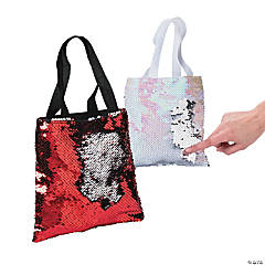 Mini Valentine's Day Flipping Sequins Tote Bags