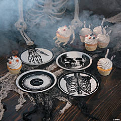 Mini Vintage Ceramic Plates Halloween Decoration - 4 Ct.