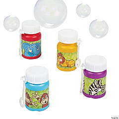 Mini Zoo Animal Bubble Bottles