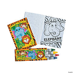 Mini Zoo Animal Coloring Sets