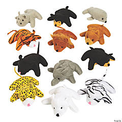 Mini Zoo Stuffed Animal Assortment - 25 Pc.