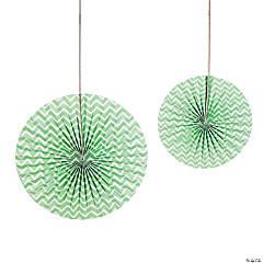 Mint Green Chevron Hanging Fans