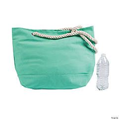 Mint Green Tote with Rope Handles