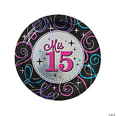 Mis Quince Años Dinner Plates