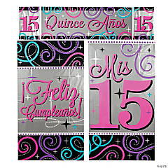 Mis Quince Años Wall Scene Setter Decorating Kit