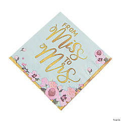 Miss to Mrs. Luncheon Napkins