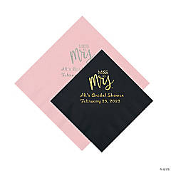 Miss to Mrs. Personalized Napkins - Beverage or Luncheon