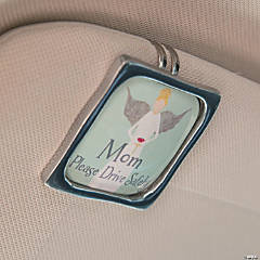 Mom Visor Clip On Card