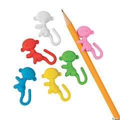 Monkey Pencil-Hugger Erasers - 24 Pc.