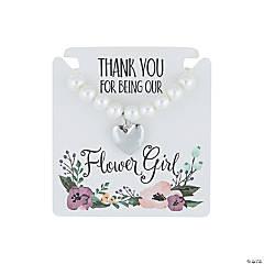 Monogrammed Flower Girl Pearl Bracelet