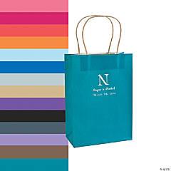Monogrammed Roman Kraft Paper Gift Bags