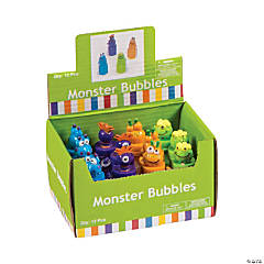 Monster Character Bubbles - 12 Pc.