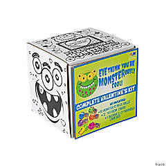 Monster Stress Balls with Valentine's Day Card & Card Box
