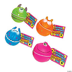 Monster Stress Balls with Valentine's Day Cards