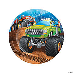 Monster Truck Party Dessert Plates - 8 Ct.