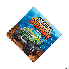 Monster Truck Party Luncheon Napkins