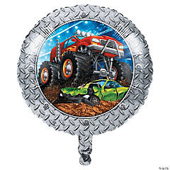Monster Truck Party Mylar Balloon