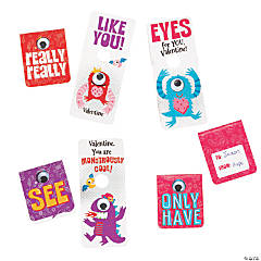 Monster with Googly Eye Valentine's Day Cards