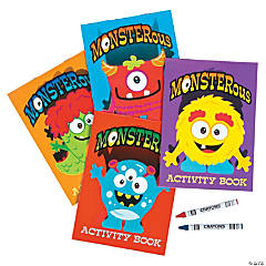 Monsters Activity Books with Crayons