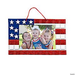 Mosaic Patriotic Flag Picture Frame Sign Craft Kit