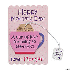 Mother's Day Tea Cup of Love Card Craft Kit