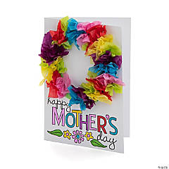 Mother's Day Tissue Paper Wreath Card Craft Kit