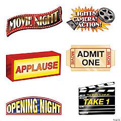 Movie Night Cutouts