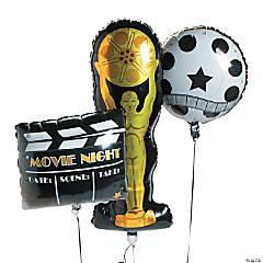 Movie Night Mylar Balloons (7 3/4