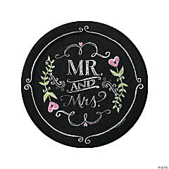 Mr. & Mrs. Chalk Dinner Plates