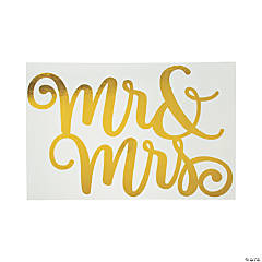 Mr. & Mrs. Gold Foil Backdrop Sign
