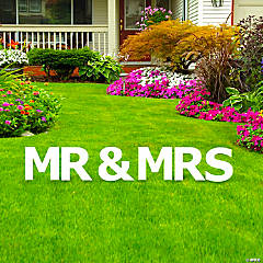 Mr. & Mrs. Letters Yard Sign