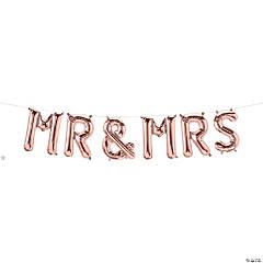 Mr & Mrs Rose Gold Mylar Balloon Kit