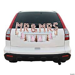 Mr. & Mrs. Rose Gold Wedding Car Parade Decorating Kit