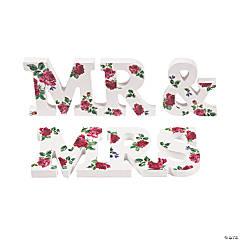 Mr. & Mrs. Tabletop Floral Sign Set