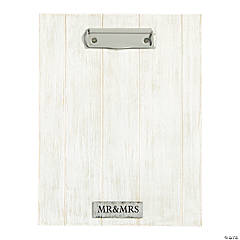 Mr. & Mrs. Weathered Picture Frame Clipboard