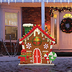 Mr. Christmas® Blow Mold Gingerbread House Outdoor Decoration