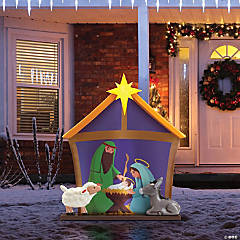 Mr. Christmas® Blow Mold Nativity Outdoor Decoration