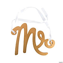 Mr. Gold Calligraphy Chair Sign