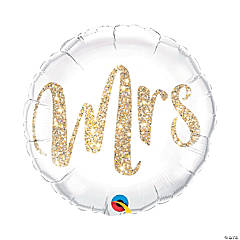 Mrs. Glitter Mylar Balloon