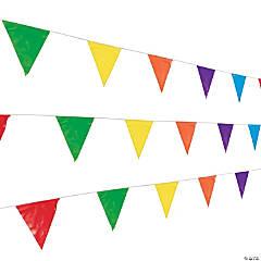 Multicolor Plastic Pennant Banner