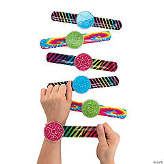 Multicolor Slap Bracelets with Maze Puzzle