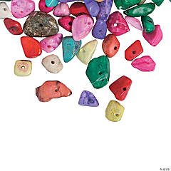 Multicolor Stone Chip Beads - 5mm