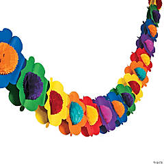 Multicolor Tissue Flower Garland