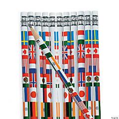 Multicultural Flag Pencils - 24 Pc.