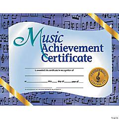 Music Achievement Certificate, 30 per Pack, 6 Packs