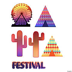 Music Festival Cutouts
