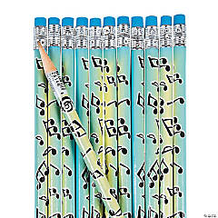 Musical Notes Pencils - 24 Pc.