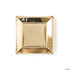 My Mind's Eye™ Gold Solid Scalloped Dinner Plates