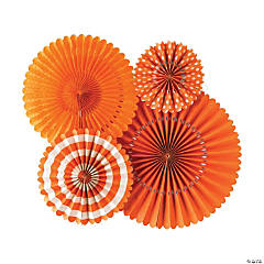 My Mind's Eye™ Orange Hanging Fans